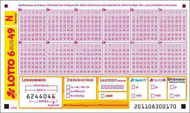 Lotto 6 Aus 49 Westlotto